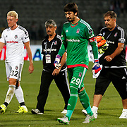 Besiktas's goalkeeper Tolga Zengin (C) during their Turkish Super League soccer match Genclerbirligi between Besiktas at the 19 Mayis stadium in Ankara Turkey on Monday, 21 September 2015. Photo by Kurtulus YILMAZ/TURKPIX