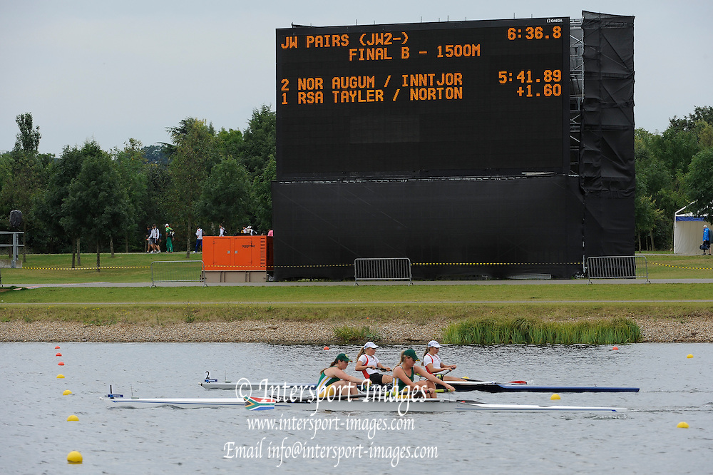 Eton. Great Britain. RSA, NOR, JW2- B Final, FISA Junior  World Rowing Championships. Dorney Lake, Nr Windsor. Saturday, 06/08/2011 [Mandatory credit: Intersport Images]