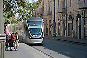Israel, Jerusalem The recently constructed Light Train rapid urban transport system