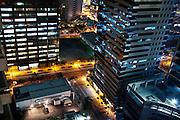 Manila city streets at night.