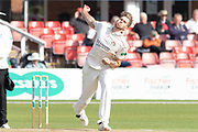 Tom Bailey bowling during the Specsavers County Champ Div 2 match between Leicestershire County Cricket Club and Lancashire County Cricket Club at the Fischer County Ground, Grace Road, Leicester, United Kingdom on 26 September 2019.