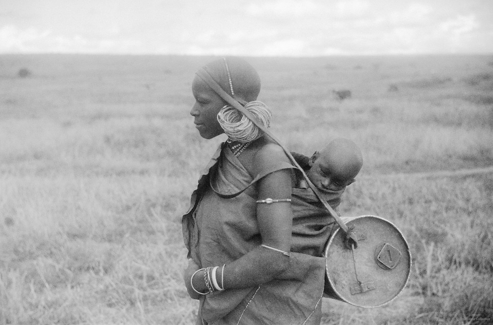 Kikuyu Mother and Child, Great Rift Valley, Kenya, Africa, 1937