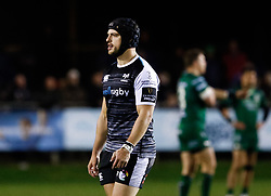 Dan Evans of Ospreys<br /> <br /> Photographer Simon King/Replay Images<br /> <br /> Guinness PRO14 Round 7 - Ospreys v Connacht - Friday 26th October 2018 - The Brewery Field - Bridgend<br /> <br /> World Copyright © Replay Images . All rights reserved. info@replayimages.co.uk - http://replayimages.co.uk