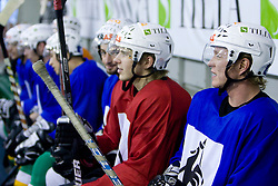 Players at ice hockey practice of HDD Tilia Olimpija,  on October 16, 2008 in Arena Tivoli, Ljubljana, Slovenia.  (Photo by Vid Ponikvar / Sportal Images)