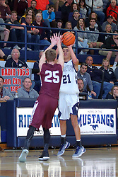 17 February 2017: IHSA Boys Basketball game between the Tremont Turks and the Ridgeview Mustangs at Colfax Illinois