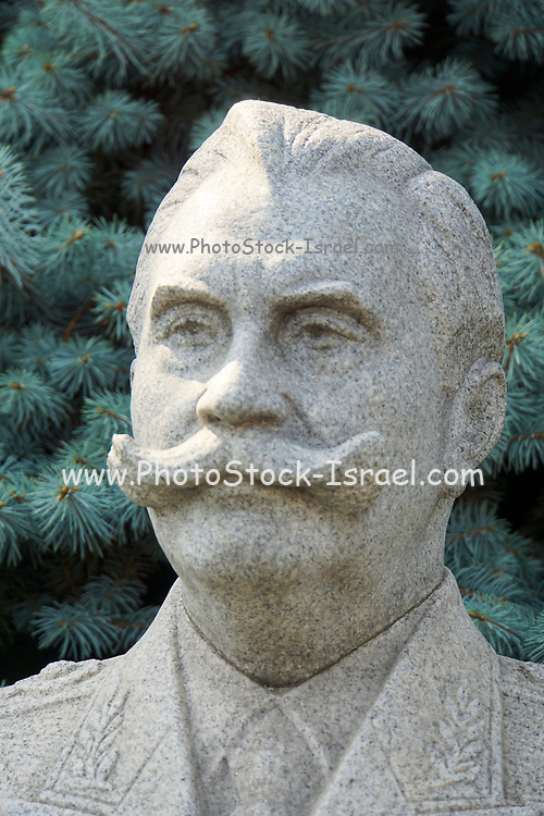 Statue of Soviet military commander Semyon Budyonny,  in front of the Kremlin wall at Red Square in Moscow, Russia