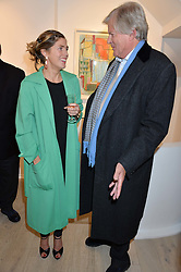 Artist GEORGIANA ANSTRUTHER and her father JOHN ANSTRUTHER-GOUGH-CALTHORPE at a private view entitled Stop Making Sense featuring work by Georgiana Anstruther and Carol Corell held at Lacey Contemporary, 8 Clarendon Cross, London on 9th March 2016.