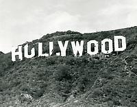 1973? Hollywood sign in disrepair