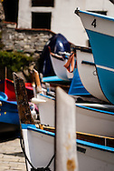 Fishing has been a way of life along the coast of Italy for centuries.  These dinghies are stacked in the village of Riomaggiore.