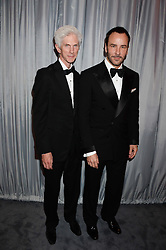 Left to right, RICHARD BUCKLEY and TOM FORD at the GQ Men of The Year Awards 2013 in association with Hugo Boss held at the Royal Opera House, London on 3rd September 2013.
