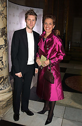 CHRISTOPHER BAILEY Design Director of Burberry and ROSE MARIE BRAVO Chief Executive of Burberry at the 2004 British Fashion Awards held at Thhe V&A museum, London on 2nd November 2004.<br />