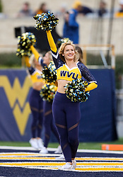 Sep 8, 2018; Morgantown, WV, USA; A West Virginia Mountaineers dance team member performs prior to the game against the Youngstown State Penguins at Mountaineer Field at Milan Puskar Stadium. Mandatory Credit: Ben Queen-USA TODAY Sports