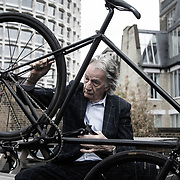 Designer Paul Smith, photographed in Covent Garden, London.