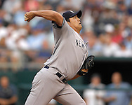 July 24 2007 - Kansas City, MO..New York Yankees pitcher Chien-Ming Wang in action against the Kansas City Royals at Kauffman Stadium in Kansas City, Missouri on July 24, 2007...MLB:  The Yankees defeated the Royals 9-4.  Photo by Peter G. Aiken / Cal Sport Media