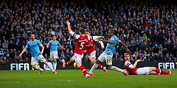 14.12.2013, Etihad Stadium, Manchester, ENG, Premier League, Manchester City vs FC Arsenal, 16. Runde, im Bild Manchester City's Fernando Luiz Roza 'Fernandinho' scores the fifth goal against Arsenal // during the English Premier League 16th round match between Manchester City and Arsenal FC at the Etihad Stadium in Manchester, Great Britain on 2013/12/14. EXPA Pictures © 2013, PhotoCredit: EXPA/ Propagandaphoto/ David Rawcliffe<br /> <br /> *****ATTENTION - OUT of ENG, GBR*****