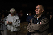 Don Cotton looks on as the primary election results are posted outside the Somervell County Courthouse on March 1, 2016 in Glenn Rose, Texas.  (Cooper Neill for The New York Times)