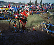 The Women's Elite race at the Cyclocross USA National Championships in Bend, Oregon.  December 12, 2010.  the winner is Katie Compton (jersey #1)