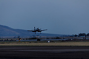 Douglas AD-4W Skyraider of the Erickson Aircraft Collection landing after demonstration at Airshow of the Cascades.