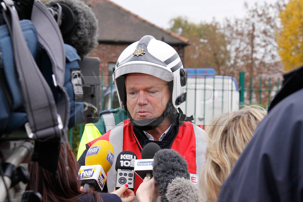Licenced to London News Pictures. 2.11.2010 Explosion at house on Merlin Road, Manchester. 11 people injured. Operation Commander giving a press conference