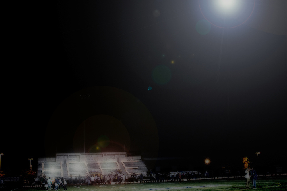 Candles illuminate HOPE from the footballs stands during the Relay for Life Scarborough, Ontario, for Canadian Cancer Society