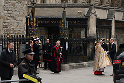 May 3, 2019 - London, Greater London, United Kingdom - Prince William seen arriving at the Westminster Abbey for the Navy Thanksgiving service..Anti-nuclear protests outside of Westminster Abbey whilst a Thanksgiving service for the Navy took place inside the Abbey. (Credit Image: © Lexie Harrison-Cripps/SOPA Images via ZUMA Wire)