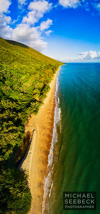 Gentle Coral Sea waves wash up on beautiful tropical Ellis Beach, just after sunrise, Far North Queensland.<br /> <br /> Limited Edition of 125