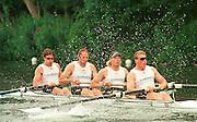 Henley Royal Regatta  28th June to 2 July 2000, RBR M4+ Matt PINSENT, Tim FOSTER, Steve REDGRAVE and James CRACKNELL..Photo Peter Spurrier 2000 Henley Royal Regatta, Henley.UK