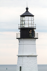 Beach to Beacon 10K road race: security detail on Head Light