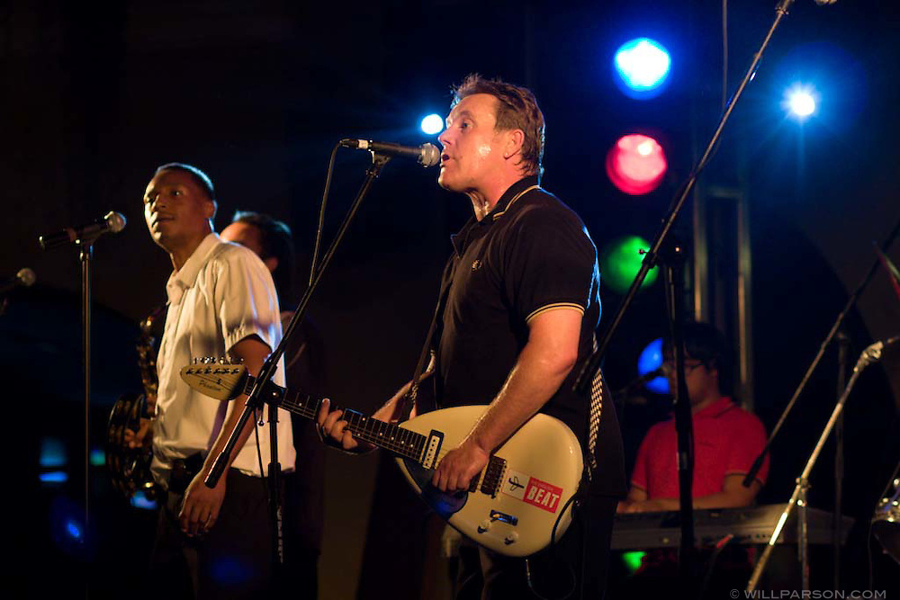 English Beat plays the paddock at the Del Mar Horse Track.