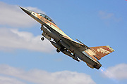 Israeli Air Force F-16A Fighter jet.