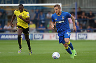 AFC Wimbledon midfielder Dean Parrett (18) dribbling during the Pre-Season Friendly match between AFC Wimbledon and Burton Albion at the Cherry Red Records Stadium, Kingston, England on 21 July 2017. Photo by Matthew Redman.