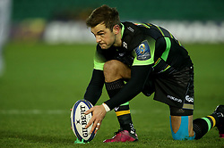 Northampton Saints' Stephen Myler lines up a penalty during the European Rugby Champions Cup, Pool Two match at Franklin's Gardens, Northampton.