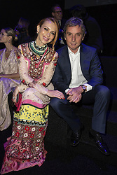 Yvonne Scio, Stefano Dammicco attends the fashion show during Bvgalri Gala Dinner held at the Stadio dei Marmi in Rome, Italy on June 28, 2018. Photo by Marco Piovanotto/ABACAPRESS.COM