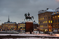 Winter scenes in Stockholm
