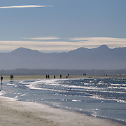Late afternoon in Summer at Tahunanui Beach, Nelson, South Island, New Zealand.  1st February 2011. Photo Tim Clayton.