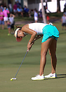18 APR15 Hawaiian Michelle Wie during Saturday's Final Round of The LOTTE Championship at The Ko Olina Golf Club in Kapolei, Hawaii. (photo credit : kenneth e. dennis/kendennisphoto.com)