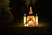 Illumination of the mausoleum in Hestercombe Gardens, Cheddon Fitzpaine, Somerset, England. Part of the Illumina Project by Ulf Pedersen.