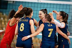 Team of Portugal rejoicin during volleyball match between Slovenia and Portugal in CEV Volleyball European Silver League 2021, on 12 of June, 2021 in Dvorana Ljudski Vrt, Maribor, Slovenia. Photo by Blaž Weindorfer / Sportida