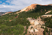 View of Red Mountain and mines, near Ouray, Colorado, USA
