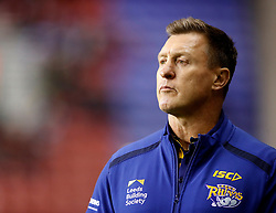 Leeds Rhinos Head Coach Dave Furner before the Betfred Super League match against Wigan Warriors at the DW Stadium, Wigan.