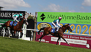 Jockey George Baker rides Marmot to victory during the 3.20 race at Brighton Racecourse, Brighton & Hove, United Kingdom on 10 June 2015. Photo by Bennett Dean.