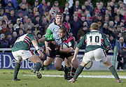 Twickenham, Surrey, UK., 19.01.2002, Quin's hooker Tani Fuga, goes for the gap, during the, Harlequins vs Leicester Tigers Powergen National Cup Rugby match, played at the, Stoop Memorial Ground, [Mandatory Credit: Peter Spurrier/Intersport Images],