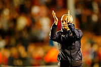 Football - 2021 / 2022 EFL Carabao Cup - Round One: Blackpool vs. Middlesbrough<br /> <br /> Blackpool manager Neil Critchley celebrates at the final whistle after his team ran out 3-0 winners, at Bloomfield Road.<br /> <br /> COLORSPORT/ALAN MARTIN