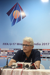 August 8, 2017 - Kolkata, West Bengal, India - Project Director Joy Bhattacharjya speaks to press during the FIFA media workshop in Kolkata. FIFA U-17 World Cup India 2017 Local Organizing Committee (LOC) Joy Bhattacharjya along with LOC Media Manager Aniket Mishra interacts with press during FIFA media workshop. (Credit Image: © Saikat Paul/Pacific Press via ZUMA Wire)
