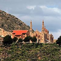 Europe, Spain, Novelda. Santa María Magdalena on Mola Hill.