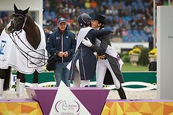 Dujardin Charlotte, (GBR), Ferrer Salat Beatriz, (ESP)<br /> Grand Prix Kur<br /> European Championships - Aachen 2015<br /> © Hippo Foto - Dirk Caremans<br /> 16/08/15