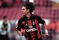 Fotball. UEFA-cup 2001/2002.<br /> Milan v Hapoel Tel Aviv 21.03.2002.<br /> Filippo Inzaghi, Milan.<br /> Foto: J-Christophe Lemasson, Digitalsport
