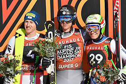 09.03.2017, Are, SWE, FIS Ski Alpin Junioren WM, Are 2017, Super G, Herren, im Bild Raphael Haaser, AUT, Nils Alphand, FRA and Semyel Bissig, SUI, Mens Podie // during med's SuperG of the FIS Junior World Ski Championships 2017. Are, Sweden on 2017/03/09. EXPA Pictures © 2017, PhotoCredit: EXPA/ Nisse<br /> <br /> *****ATTENTION - OUT of SWE*****