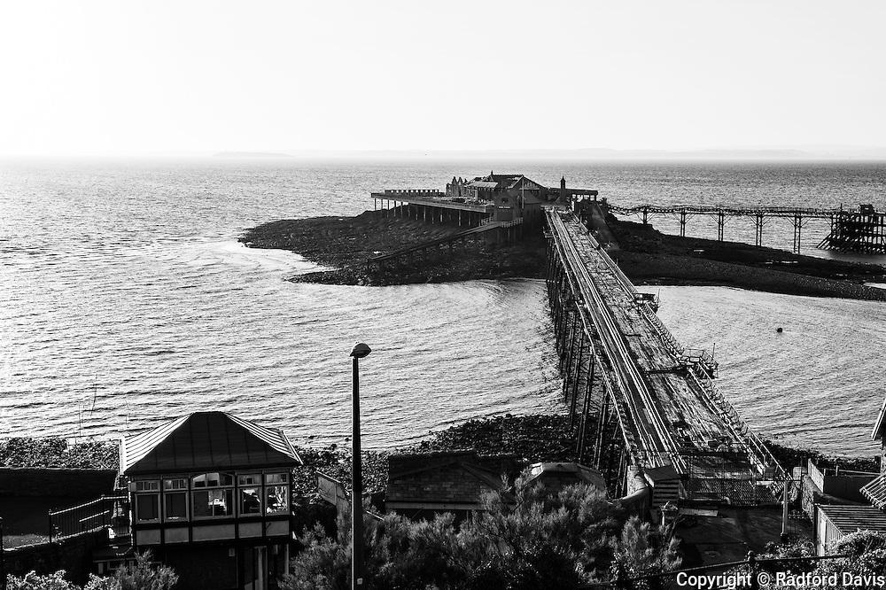 Old pier at Weston-super-Mare, England