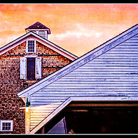 Sunset over the Cupola at Canterbury Shaker Village, NH..  All Content is Copyright of Kathie Fife Photography. Downloading, copying and using images without permission is a violation of Copyright.